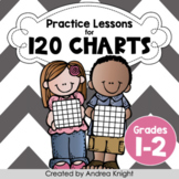 120 Charts: Math Practice Worksheets for Grades 1-2 (Dista