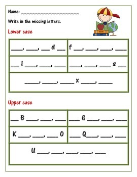 Learning your ABC 's. Alphabet : Fill in the blank with your ABC's.