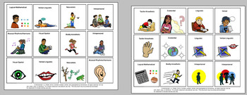 Learnings Styles Cards and  Scavenger Hunt Game-4 Pages/48 Cards!