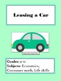 Leasing a Car Simulation Activity