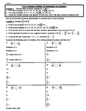 Least Common Denominator/Comparing Fractions Worksheet - Teaching and Practice