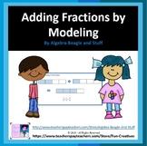 Least Common Denominator Fraction Modeling