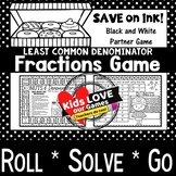 Least Common Denominator Game: 5th Grade Fractions Math Game