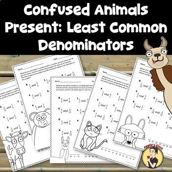 Least Common Denominator (No Prep Worksheets)