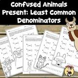 Least Common Denominator Worksheets