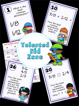 Least Common Denominator Task Card Set #sale