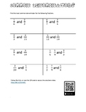 Least Common Denominator Worksheet with Solution Video
