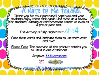 Least Common Multiple **QR CODE Task Cards**