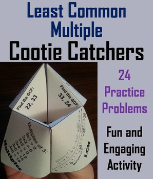 Least Common Multiple Practice Activity/ LCM Activity 4th 5th 6th 7th Grade