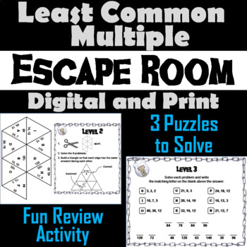 Least Common Multiple Activity: Escape Room Math