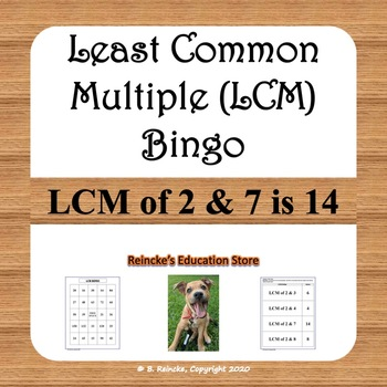 Least Common Multiple Bingo (30 pre-made cards!)