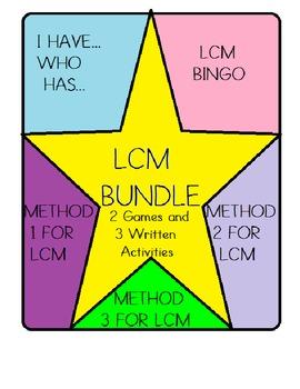 Least Common Multiple Bundle (LCM) - I have/Who has, Bingo, Written Tasks