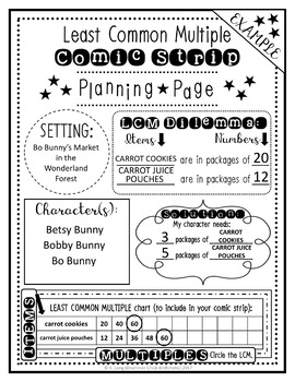 Least Common Multiple Comic Strip Mini-project