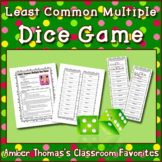 Least Common Multiple Dice Game  Printable Distance Learni