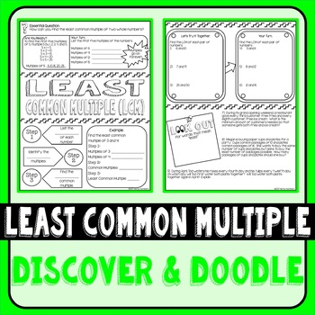 Least Common Multiple Doodle Notes