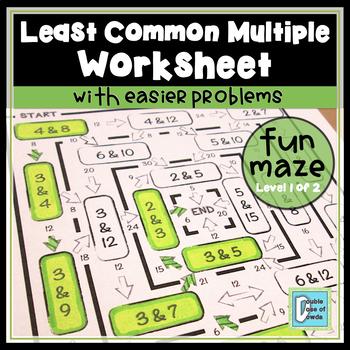 Least Common Multiple Easy Maze