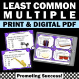 Least Common Multiple Game LCM Task Cards, 6th Grade Math Review Common Core