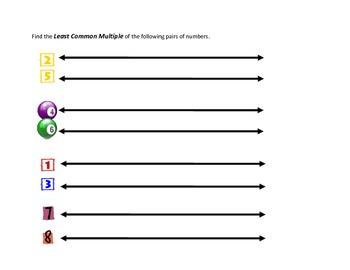Least Common Multiple Graphic Organizer
