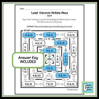 Least Common Multiple Hard Maze