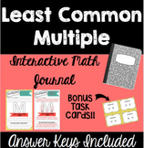 Least Common Multiple - Interactive Math Journal with Task Cards