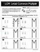 Least Common Multiple Introductory Practice