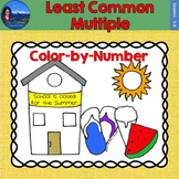 Least Common Multiple (LCM) Math Practice End of Year Color by Number