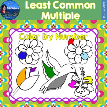 Least Common Multiple (LCM) Math Practice May Flowers Color by Number