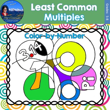 Least Common Multiple (LCM) Math Practice Pi Day Color by Number