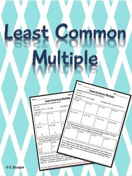 ** FREEBIE ** Least Common Multiple (LCM) Worksheets