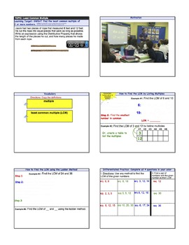 Least Common Multiple Smart Notebook Lesson