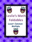 Least Common Multiple Math Foldable