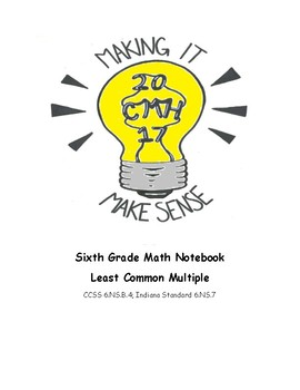 Least Common Multiple Math Notebook