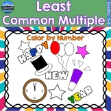 Least Common Multiple Math Practice   New Years Color by Number