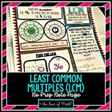Least Common Multiple No Prep Note Page