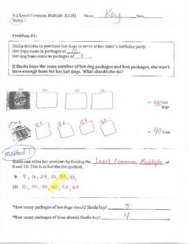 Least Common Multiple (LCM) Notes