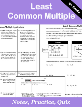 Least Common Multiple Notes