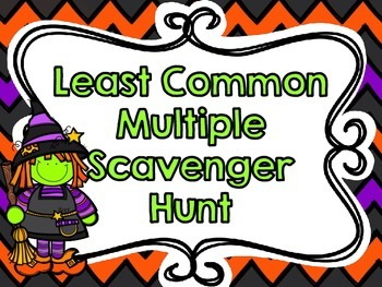 Least Common Multiple Scavenger Hunt-Halloween