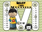 Least Common Multiple  ~ Scoot ~ Task Cards with Answer Keys