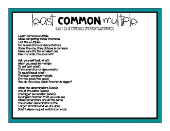 Least Common Multiple Song