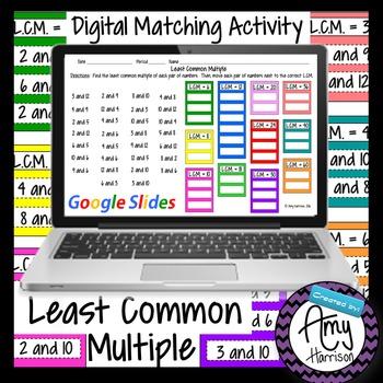 Least Common Multiple Sorting Activity - Google Slides Version
