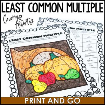 Thanksgiving Math Activity: Least Common Multiple