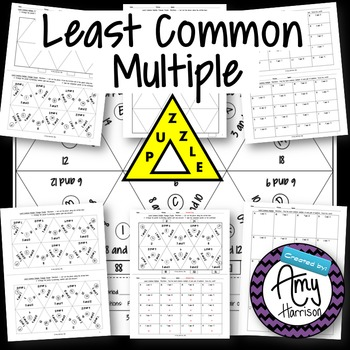 Least Common Multiple Triangle Matching Puzzle