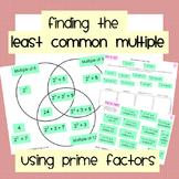 Least Common Multiple (Using Prime Factors)