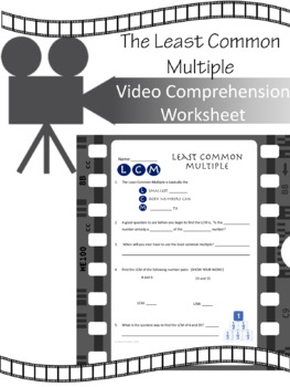 Least Common Multiple VIDEO WORKSHEET