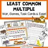 Least Common Multiple Games - War, Task Cards and Anchor Chart!