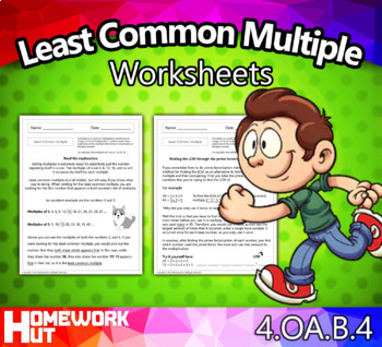 4.OA.4 - Least Common Multiple Worksheets