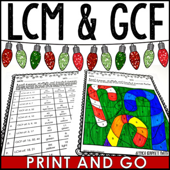 Gcf And Lcm Color Activity Teaching Resources Teachers Pay Teachers