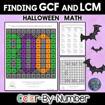 Least Common Multiple and Greatest Common Factor Halloween Activity