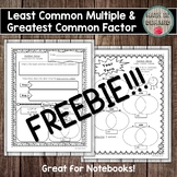 Least Common Multiple and Greatest Common Factor Math Inte