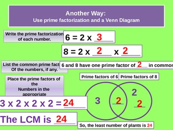 Least Common Multiple for Visual Learners